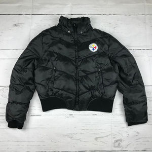 NFL for Her Pittsburgh Steelers puffer coat *as is